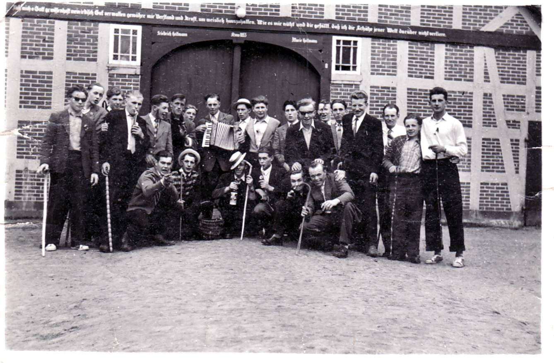 Eierköpen 1954 bei Heitmanns