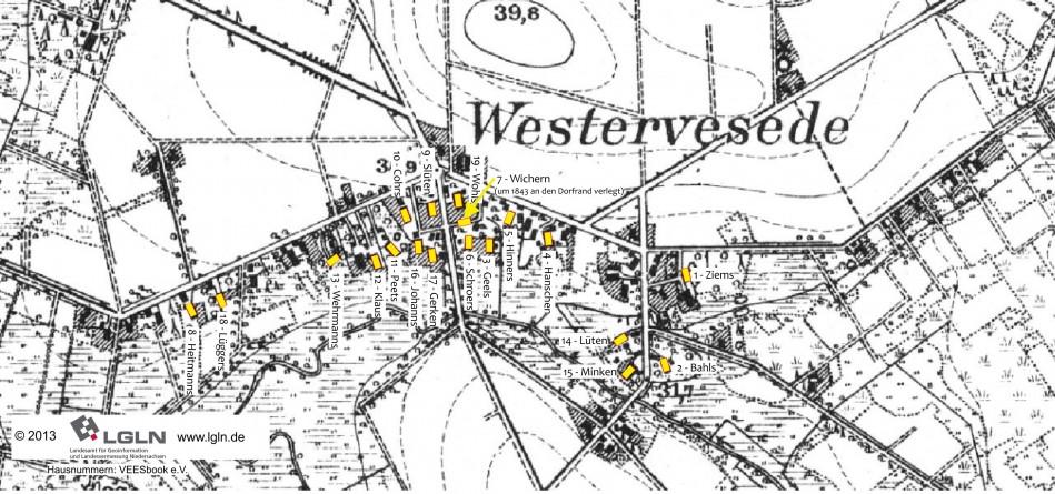 Karte Wv - 19 Höfe