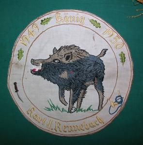 SV-Fahne-Wildschwein handgestickt