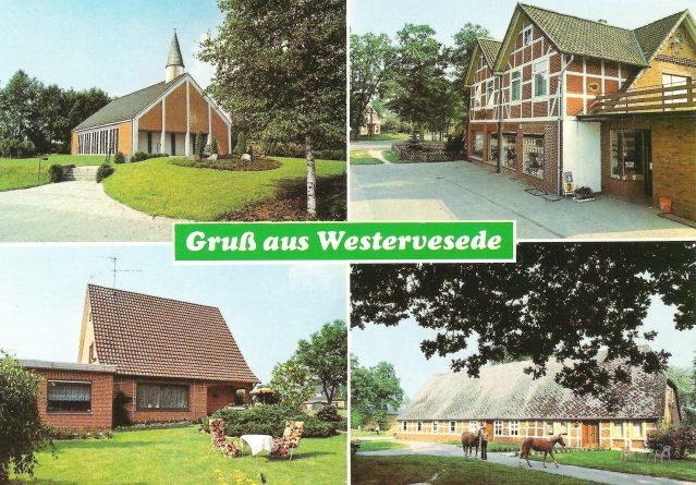 Die Kapelle / Lebensmittelgeschäft Bischoff / Pension von Borstel / Wehrmanns Hof