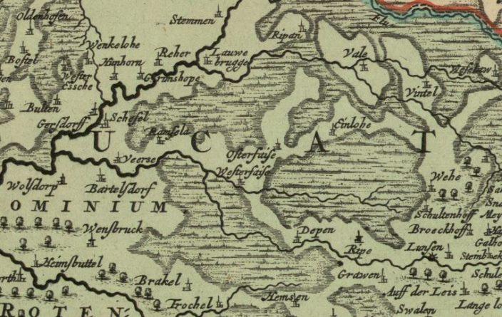 Kartenauschnitt um 1730
